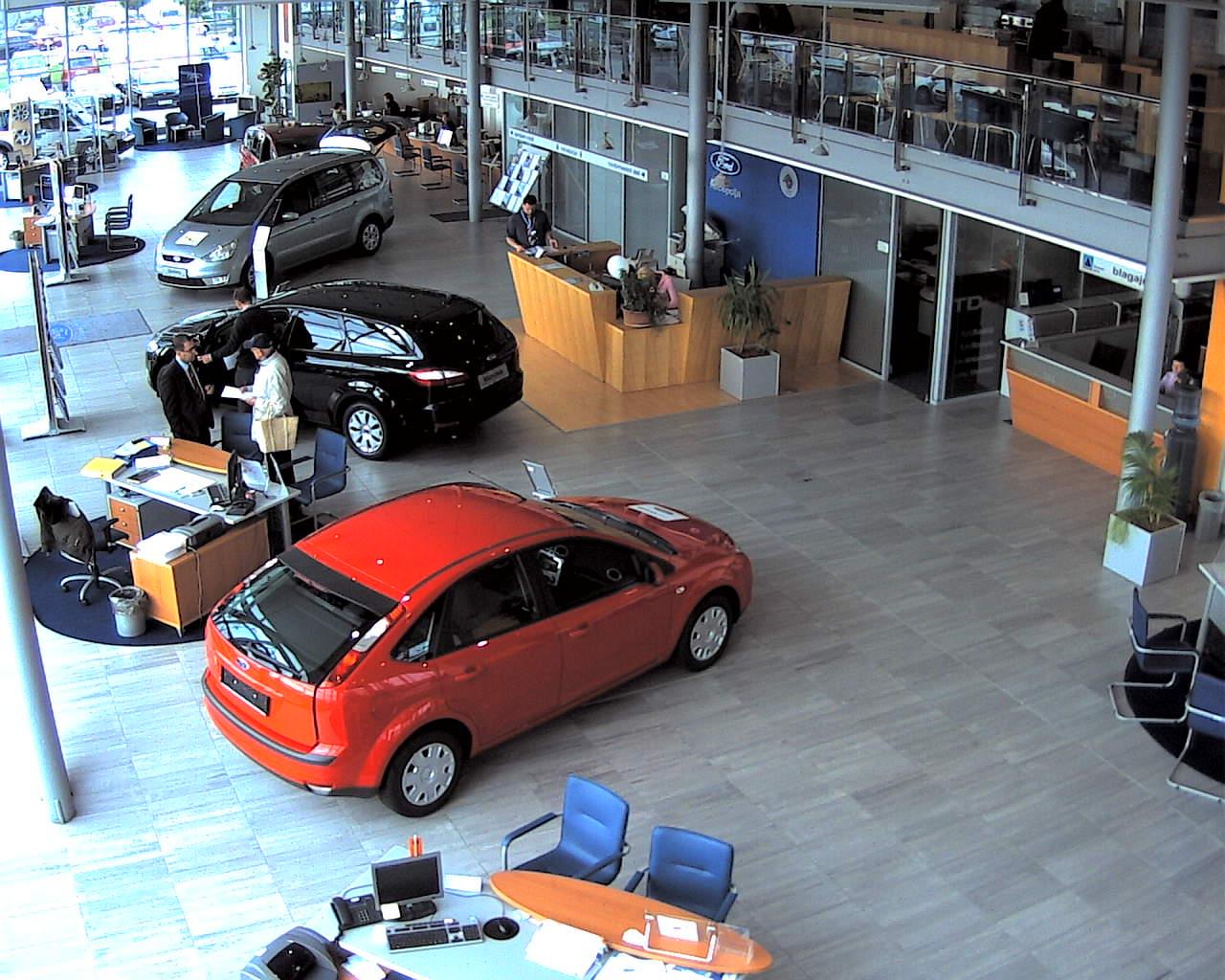 Видеонаблюдение в автосалоне