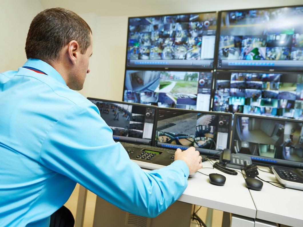 Видеонаблюдение в банке