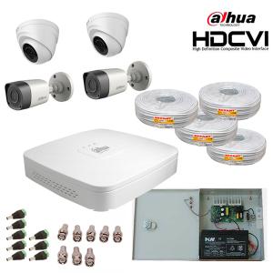 Комплект видеонаблюдения HDCVI 4камеры