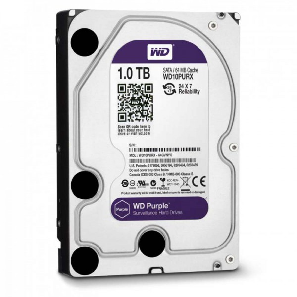 Жесткий диск 3.5 1Tb Western Digital Purple