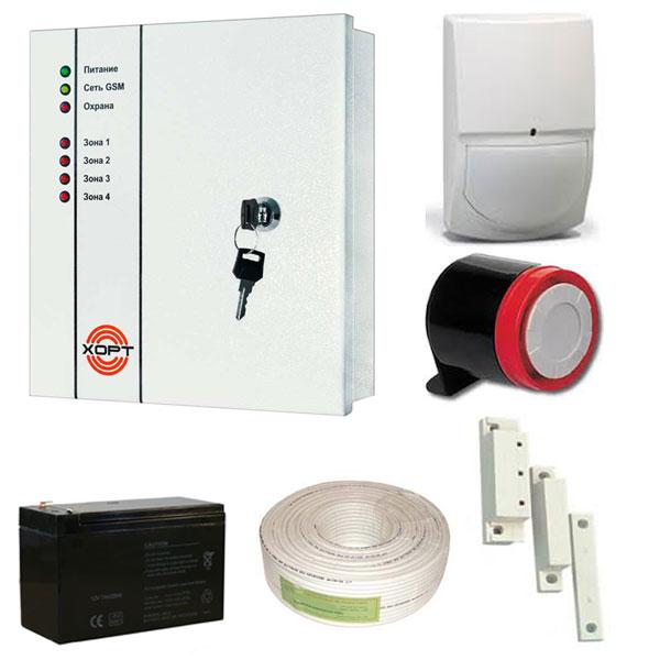 Комплект проводной GSM-сигнализации ХОРТ Для гаража